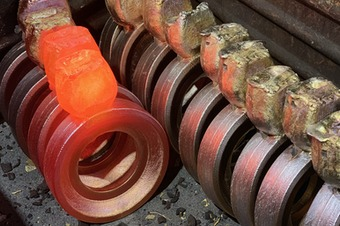 Raw bushings formed with shell casting